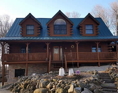 Metal Roofs for Wisconsin Log Homes